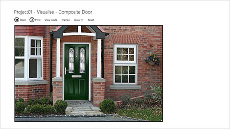 Visualise frames on a photo of the customers house